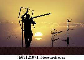 technician TV antenna