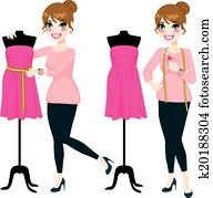 Fashion Designer Woman