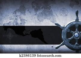 navy background