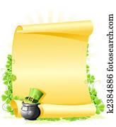 St. Patricks Day blank Letter