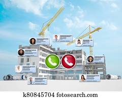 Virtual meeting in Construction industry
