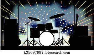 Bright Rock Band Stage