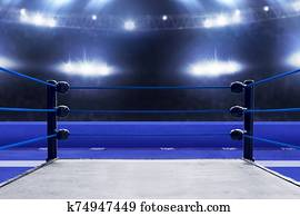 Professional boxing ring, sport concept