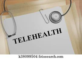 Telehealth medical concept
