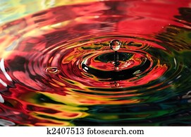 Colorful water droplet