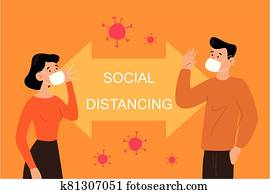 Social Distancing people
