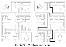 Easy little star maze