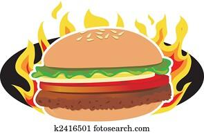 Flaming Hamburger