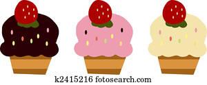 Three fancy cupcakes