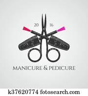 Manicure vector logo