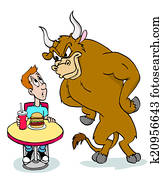Bull Mad About Burger