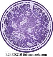 Paisley flores sphere element