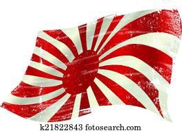 waving Japan grunge flag