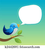 Blue Twittering Bird