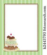 Cupcake Border Green