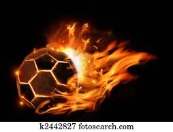 Hot Football On Fire