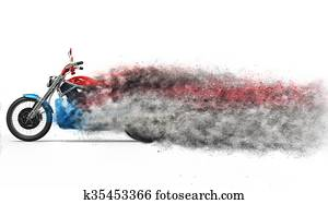 Bike - particle dispersion