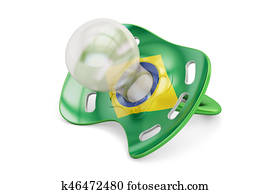 Brazilian Maternity and birthrate in Brazil concept, 3D rendering