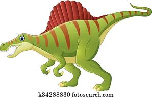 Dinosaur Spinosaurus Cartoon Clip Art K34136119 Fotosearch