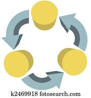 Arrows recycle workflow communications copy space