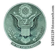 Eagle seal from dollar bill