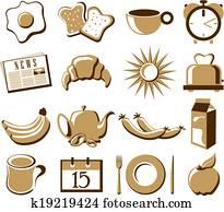 Morning symbol set