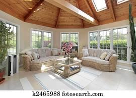 Sunroom in luxury home
