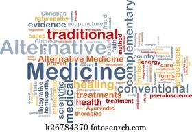 Alternative medicine wordcloud concept illustration