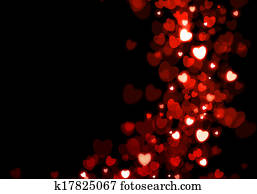 Valentine's day red hearts background