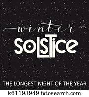 Winter solstice lettering.