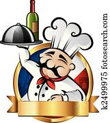 Cheerful Chef Illustration