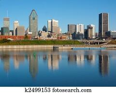Montreal Skyline Reflection
