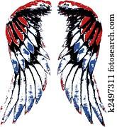 usa eagle wing portrait