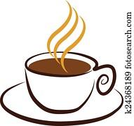 Vektor, symbol, von, kaffeetasse Clipart | k14027731 ...