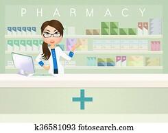 illustration of pharmacy