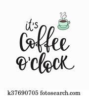 notieren, kaffeetasse, typographie