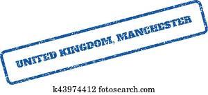 United Kingdom Manchester Rubber Stamp