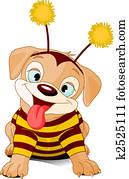 Halloween bee-dog
