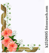 Wedding or Party Invitation Hibiscus