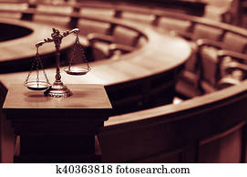 Decorative Scales of Justice in the