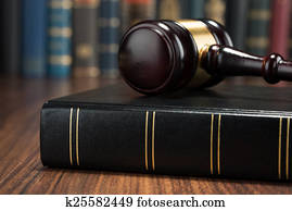 Gavel And Law Book