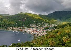 Small town Soufriere