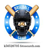 Clip Art Of Baseball Catcher Mask Sign K56624737 Search Clipart