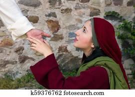 Mary Magdalene sees Jesus on Easter morning