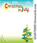 Christmas in July Background Template Vertical