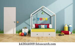Colorful children bedroom