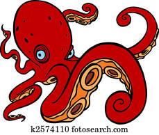 Octopus swimming