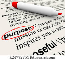Purpose Dictionary Definition Word Objective Mission Deliberate