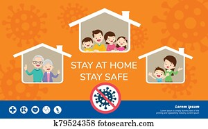 stay at home stay safe for family