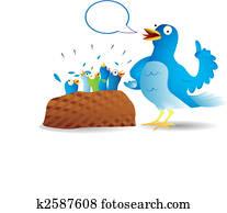 Twitter bird talking